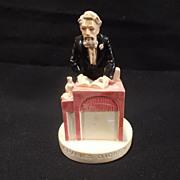 """SALE Vintage Sebastian miniature--""""Charles Dickens"""" - Artist signed"""