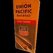 SOLD Union Pacific Railroad Timebable, June 20,1948