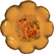 SALE Empire China Austrian Plate - Gold Trimmed - Maidens