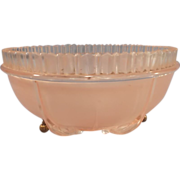 SALE Vintage Pink Glass Ceiling Light Shade - 3 chain