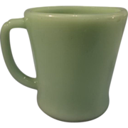 SALE Vintage Fire King Jadite Mug - D handle