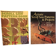 SALE Scroll Saw Pattern Book  AND  Artistic Scroll Saw Patterns & Projects  (2 books)-Wood