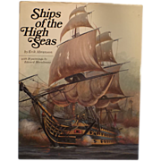 SALE Ships of the High Seas, by Erik Abramson,  Hardcover – 1976