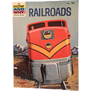 SALE The HOW and WHY Wonder Book of RAILROADS - Child-Teenager Book