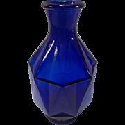 SOLD Cobalt Blue Vase - Diamond paneled