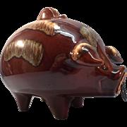 SALE Hull Jumbo Corky Pig Bank-Turquoise and Brown-1978