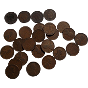 SALE PENDING One Half Roll of 1926 Lincoln Wheat Pennies with 4 Indian Head Pennies