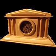 SALE Celluloid Boudoir/Dresser Columnar Clock