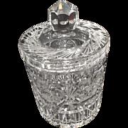 SALE Lead Crystal Biscuit Jar