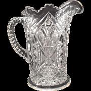 SALE Vintage Pressed Glass Water/Beverage Pitcher -- Vase