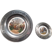 SALE The Great American Revolution & America's Bicentennial Pewter Plates
