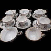 SALE Lefton China Set, 6 Cups & Saucers plus 2 spares