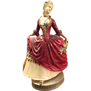 SALE Vintage Carnival Chalkware Victorian Style Lady