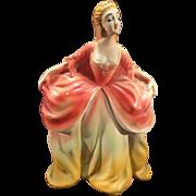 SALE Vintage Glamorous Carnival Chalkware Colonial Lady (cr. 1940's era)