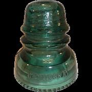 SALE Hemingray No. 40 Glass Insulator - Green