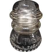 SALE SURGE Glass Insulator by Babson Bros. Co.