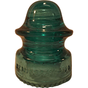 SALE Hemingray No. 20 Blue Glass Insulator