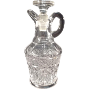 SALE Vintage Pressed Glass Vinegar/Oil Cruet