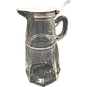 SALE Victorian Style heavy glass Syrup Pitcher