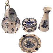 SALE 5 Blue Delft Collectibles--Holland/Finland
