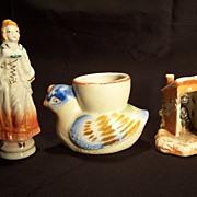SALE Occupied Japan Figurine , Occupied Japan Egg Cup, Black Memorabilia Privy