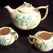 SALE Tea Set - Hull Pottery Co. - Magnolia (Pink Gloss) pattern