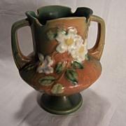 SALE Roseville Pottery Co. White Rose Vase