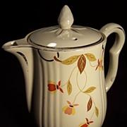 SALE Jewel Tea Autumn Leaf 9 Cup Coffee Pot/Iced Tea Pitcher with LId