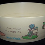 SALE Holly Hobbie Celluloid Childs cereal bowl