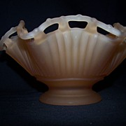 Westmoreland Peach colored Satin Glass Bowl