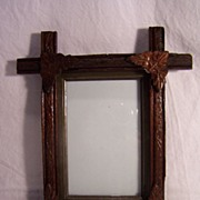 SALE Adirondack Eastlake / Rustic Tramp Art Picture Frame
