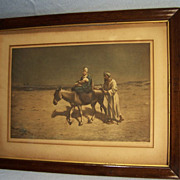 "SALE ""Mary, Joseph and Baby Jesus""--Framed & Signed Halftone Print"