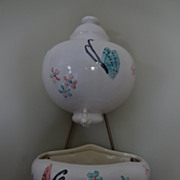 SALE Hull Pottery Butterfly Lavabo with original Hanger