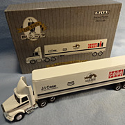 SOLD Die Cast J I Case 150 Year Commemorative Edition Tractor Trailer--1/64 scale