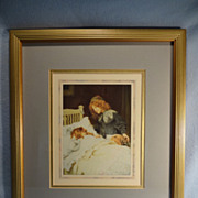 "SALE ""Wake Up, It's Christmas Morning"" full color print by Arthur J. Elsley"
