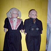 Composition Dutch Walking Dolls