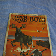 The Open Road for Boys November 1937 Magazine