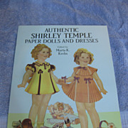 SOLD Original Shirley Temple Paper Dolls in full color,Classic Shirley Temple Paper Dolls in f