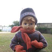Goebel  Vinyl Hummel  Doll  On Sled