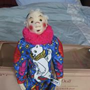 Steiff   Coloro  Clown  Doll