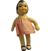 "SALE 31/2 "" Tall All Bisque Jointed Doll"