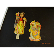 Paper doll  with Japanese and Chinese  clothes