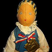 SALE PENDING Polish Relief  Fund  Doll  by Madame Paderewski  1914  Cloth Doll