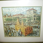 "Vintage UT University of Texas Framed Print ""Roundup Parade"""