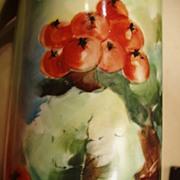 SALE Antique P.H. Leonard Vienna Hand Painted Stein Currants