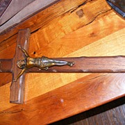 Vintage wood and metal Crucifix