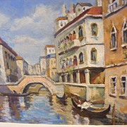 SALE C. Fennell signed Venice, oil painting Italy scene