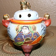 Satsuma Hand Painted Incense Burner