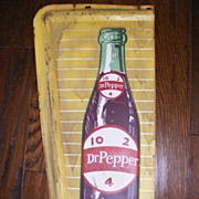 SALE 1960's Vintage Metal Dr. Pepper Advertising Sign