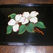 Couroc Floral Platter
